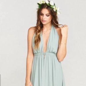 Show Me Your Mumu Silver Sage Luna Maxi Dress